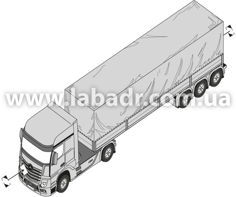 Маркировка транспортного средства, перевозящего минеральные масла, упакованные в ограниченных количествах