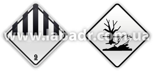 Знак опасности и маркировочный знак для минеральных масел